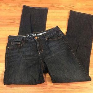 Soho Donna Karen Boot Cut Dark Denim Jeans 8R